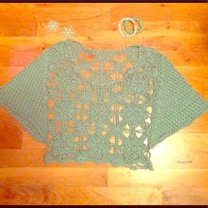 🍍 Pastel Green Knit Crop Top Size Small